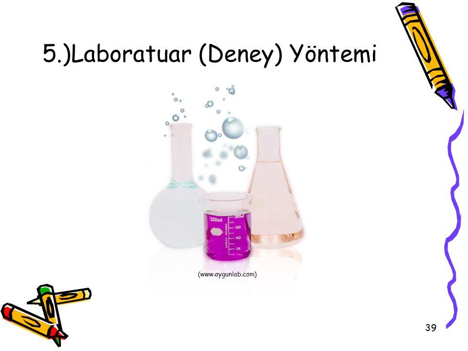 39 5.)Laboratuar (Deney) Yöntemi (www.aygunlab.com)