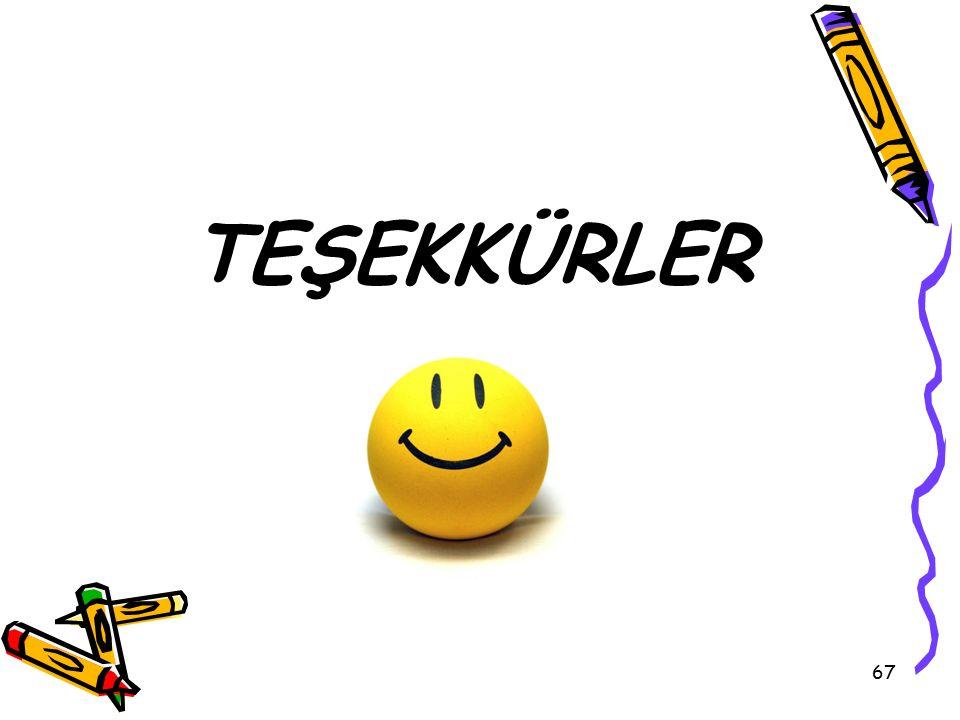 67 TEŞEKKÜRLER