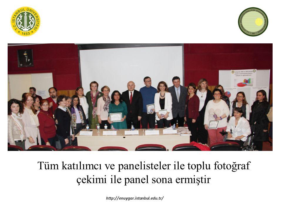 Tüm katılımcı ve panelisteler ile toplu fotoğraf çekimi ile panel sona ermiştir http://enuygar.istanbul.edu.tr/