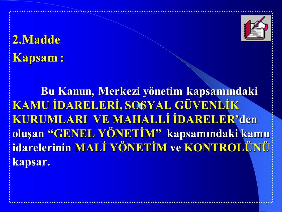 MADDE 43 Genel uygunluk bildirimi Sayıştay, merkezî yönetim kapsamındaki kamu idareleri için düzenleyeceği genel uygunluk bildirimini, kesin hesap kanun tasarısının verilmesinden başlayarak en geç yetmiş beş gün içinde Türkiye Büyük Millet Meclisine sunar.