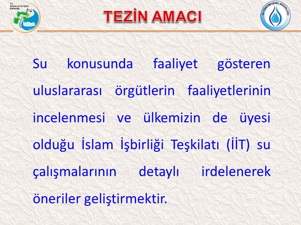 İslam İşbirliği Teşkilatı (İİT) İİT SU KONUSUNDA FAALİYETLER -Su Konusundan Sorumlu Bakanları Konferansı: -2002 1.