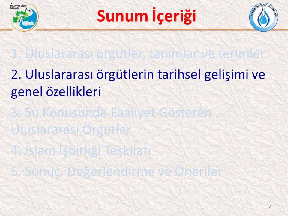 İslam İşbirliği Teşkilatı (İİT) İİT SU KONUSUNDA FAALİYETLER -Dışişleri Bakanları Konseyi: -11.