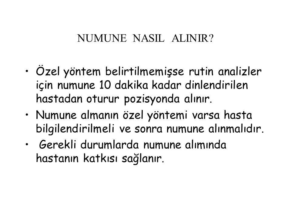 NUMUNE NASIL ALINIR.