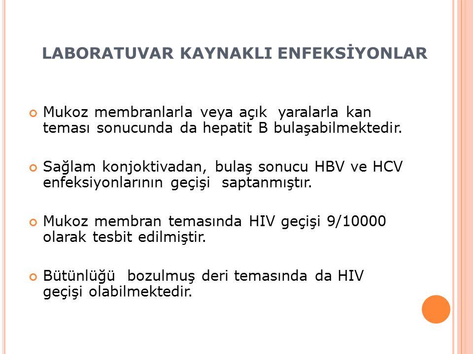 Mukoz membranlarla veya açık yaralarla kan teması sonucunda da hepatit B bulaşabilmektedir.
