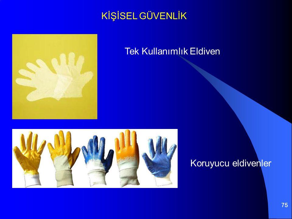 75 KİŞİSEL GÜVENLİK Tek Kullanımlık Eldiven Koruyucu eldivenler