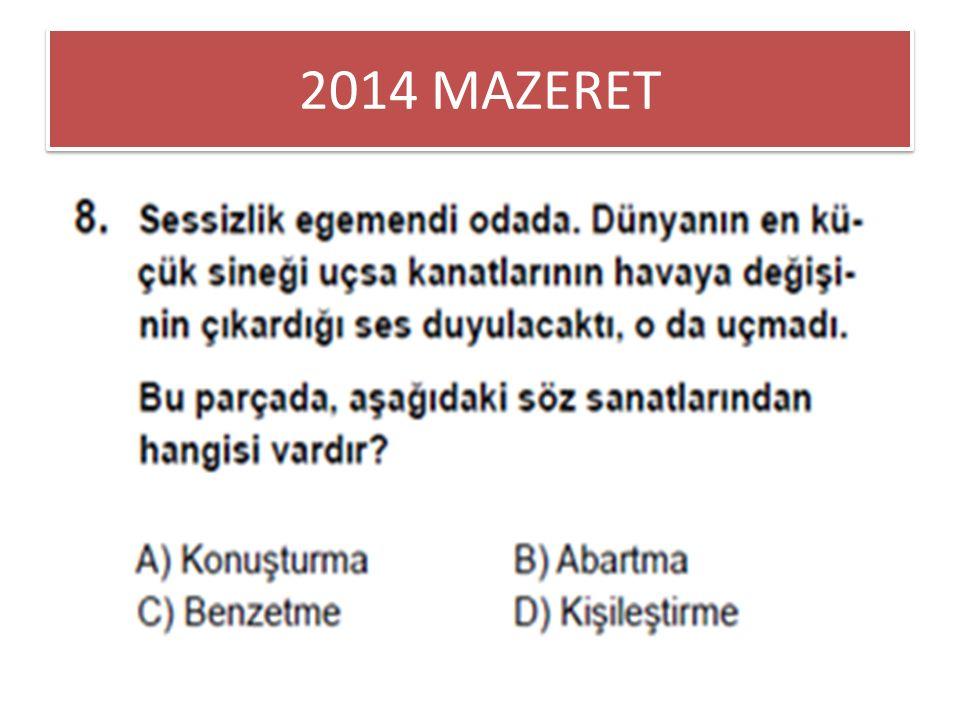 2014 MAZERET