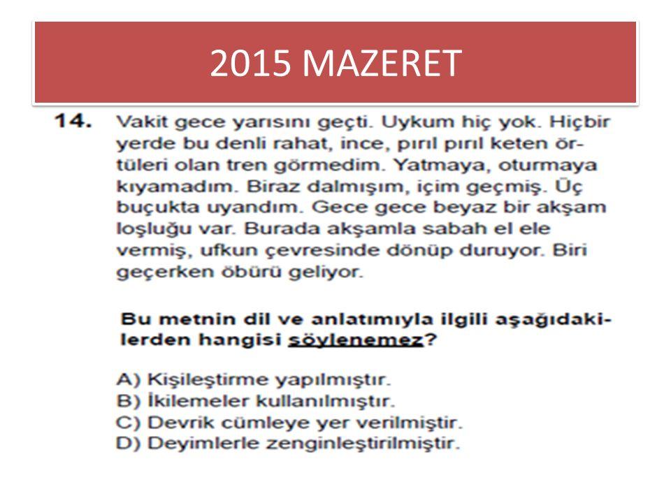 2015 MAZERET
