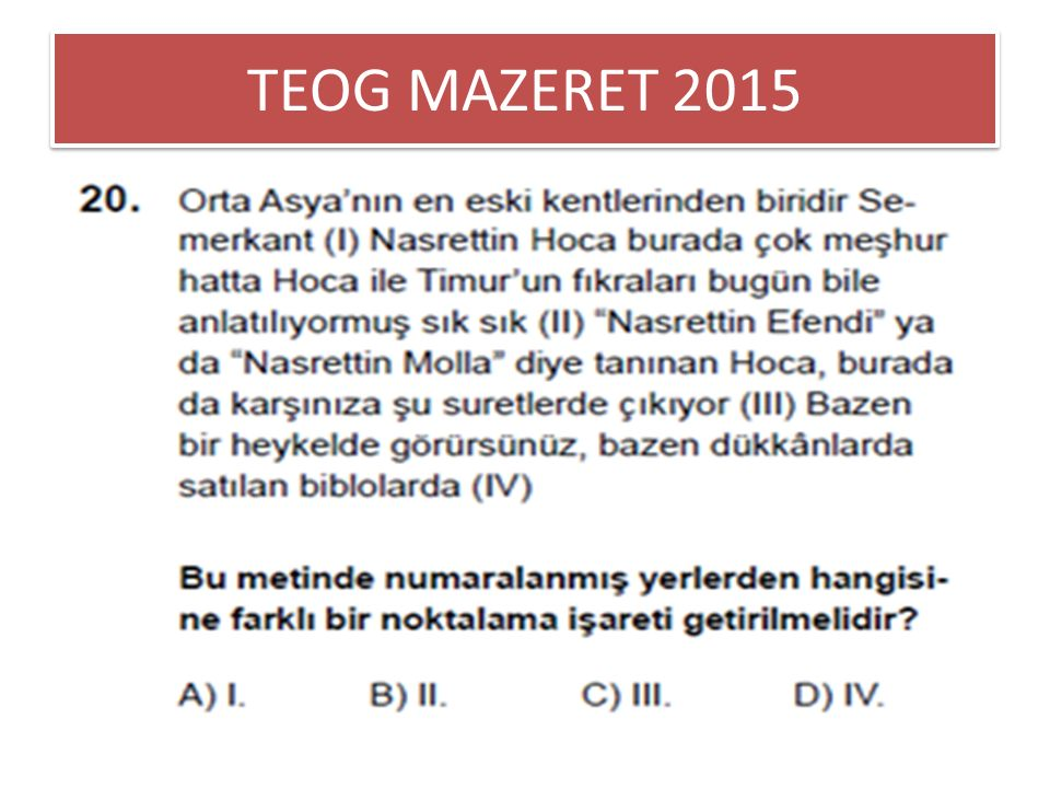 TEOG MAZERET 2015