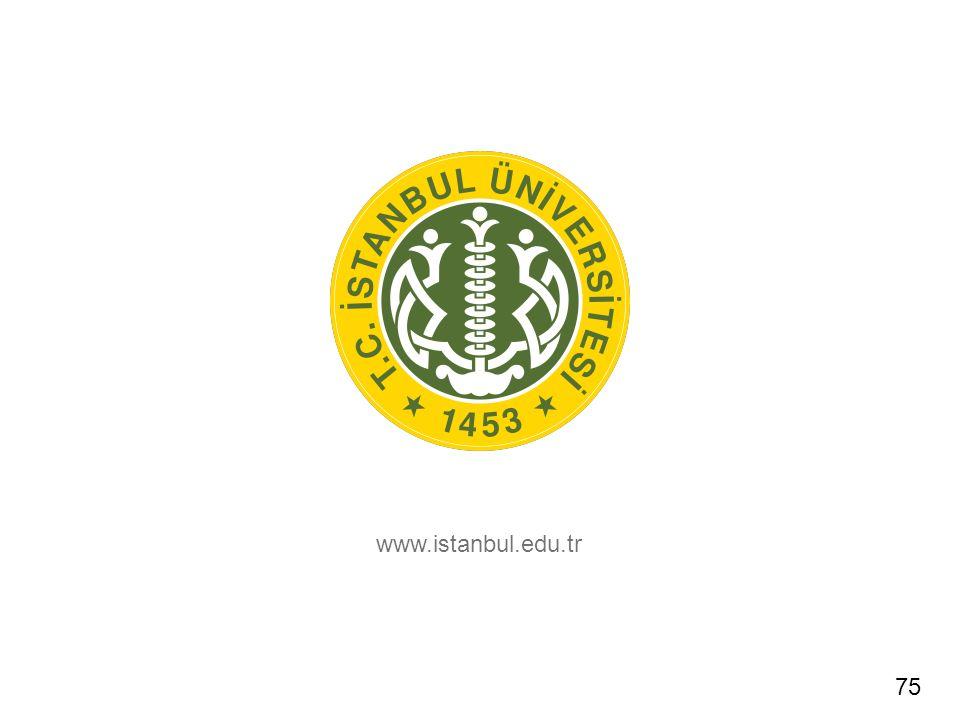 www.istanbul.edu.tr 75