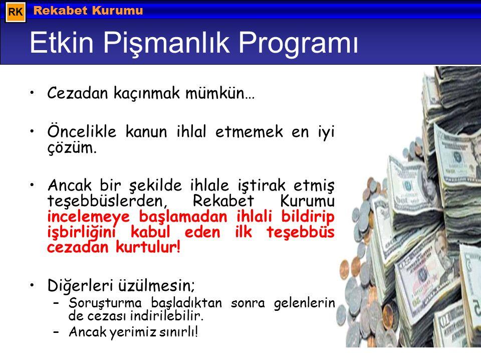 Hazırlayan: Barış EKDİ © 2008 Rekabet Kurumu Etkin Pişmanlık Programı Cezadan kaçınmak mümkün… Öncelikle kanun ihlal etmemek en iyi çözüm.