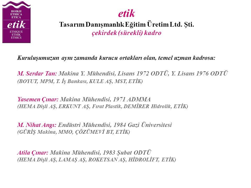 etik Tasarım Danışmanlık Eğitim Üretim Ltd. Şti.