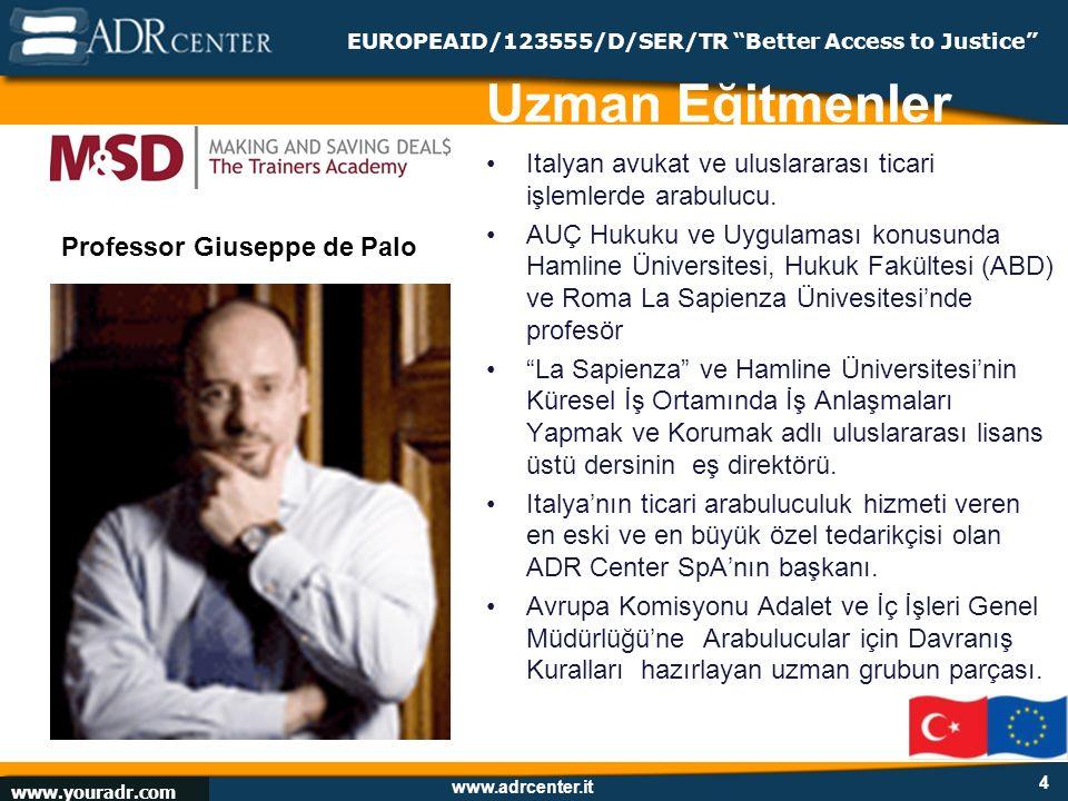 www.adrcenter.it Istanbul, February 13, 2009 EUROPEAID/123555/D/SER/TR Better Access to Justice Hollandalı ADR uzmanı Ticari arabuluculuk sağlayıcısı ACB Group Yönetici Direktörü & M&SD International icra direktörü.