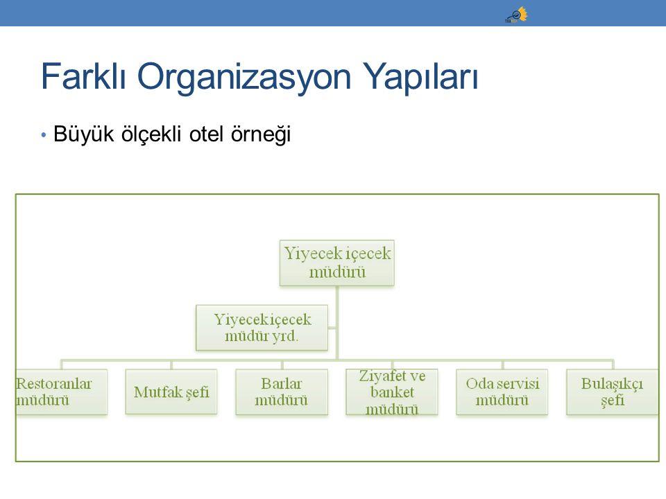 Büyük ölçekli otel örneği Farklı Organizasyon Yapıları