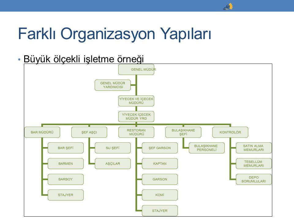 Büyük ölçekli işletme örneği Farklı Organizasyon Yapıları