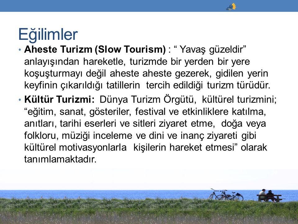 """Aheste Turizm (Slow Tourism) : """" Yavaş güzeldir"""" anlayışından hareketle, turizmde bir yerden bir yere koşuşturmayı değil aheste aheste gezerek, gidile"""