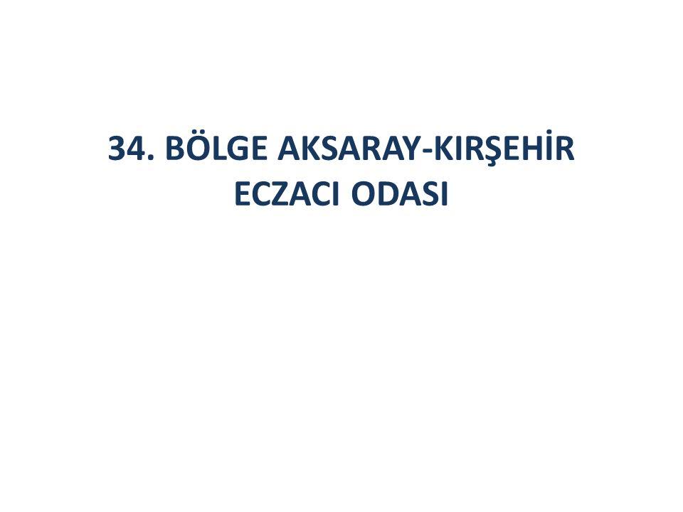34. BÖLGE AKSARAY-KIRŞEHİR ECZACI ODASI