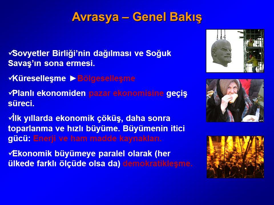 Türkiye ve Avrasya Türkiye SSCB dağılır dağılmaz daha BDT şekillenmeden önce bağımsızlığına kavuşan genç devletlere ve onların ekonomik dönüşüm süreçlerine destek vermiştir.