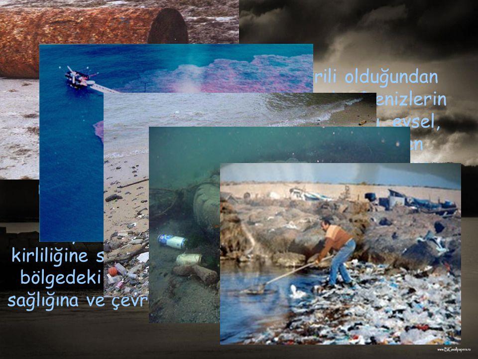 Deniz kirliliğine sebep olan diğer faktörleri şöyle sıralayabiliriz: Deniz kıyılarında bulunan kent merkezleri ve sanayi tesislerinden çıkan ve arıtılmadan denize boşaltılan atıklar.