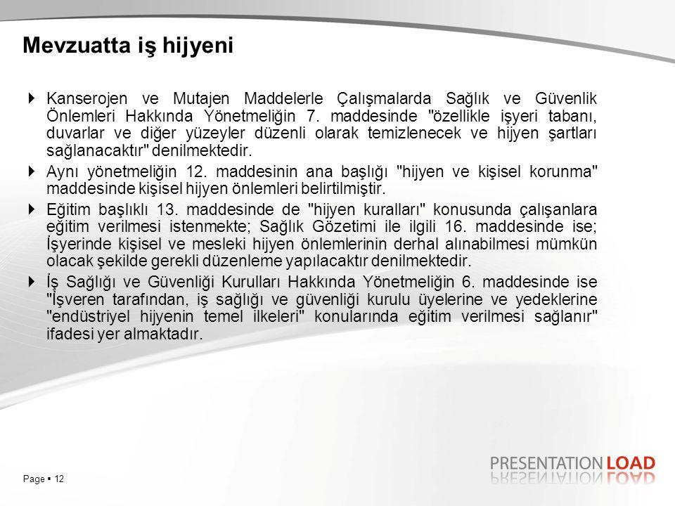 Page  12  Kanserojen ve Mutajen Maddelerle Çalışmalarda Sağlık ve Güvenlik Önlemleri Hakkında Yönetmeliğin 7. maddesinde