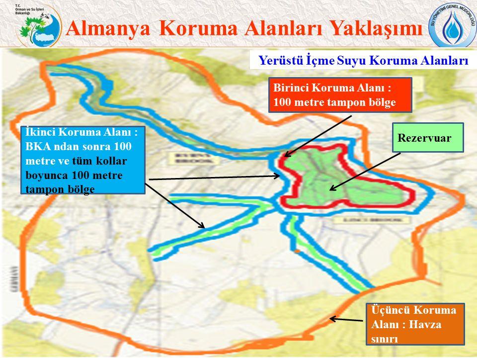 Türkiye Yerüstü Suyu Koruma Alanları Kısıtlamalar 36 Rezervuara İlişkin hükümler: a.Arıtılmış atıksu ve atık boşaltımı, akaryakıt ile çalışan araçların kullanımı (yelkenli ve akülü araçlar hariç) yasaktır.
