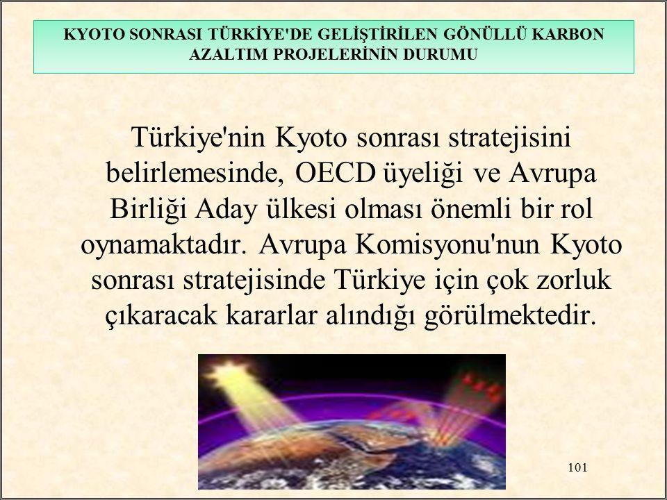 Türkiye'nin Kyoto sonrası stratejisini belirlemesinde, OECD üyeliği ve Avrupa Birliği Aday ülkesi olması önemli bir rol oynamaktadır. Avrupa Komisyonu