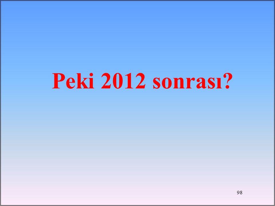 Peki 2012 sonrası? 98