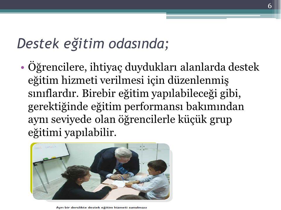 Öğrencinin eğitim ihtiyacına göre belirlenen ortamlarda; Çalışılacak beceri alanına göre belirlenen ortamlardır.