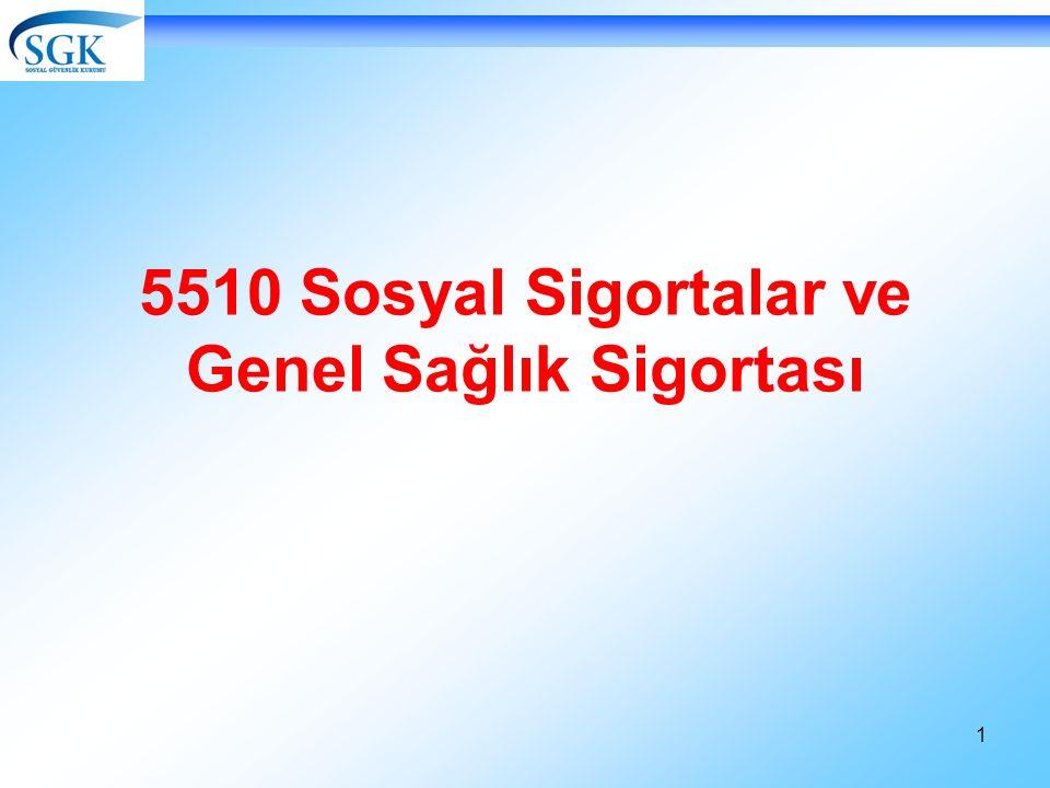 1 5510 Sosyal Sigortalar ve Genel Sağlık Sigortası