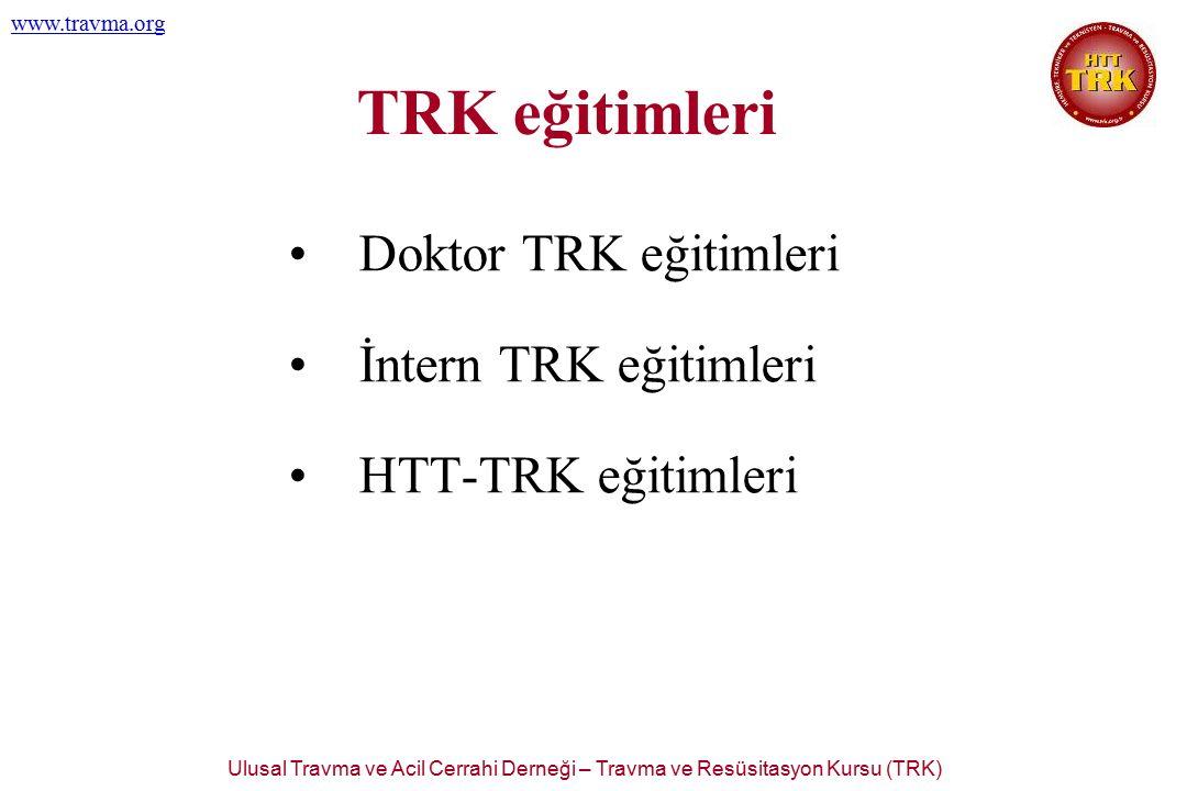 Ulusal Travma ve Acil Cerrahi Derneği – Travma ve Resüsitasyon Kursu (TRK) www.travma.org TRK eğitimleri Doktor TRK eğitimleri İntern TRK eğitimleri H