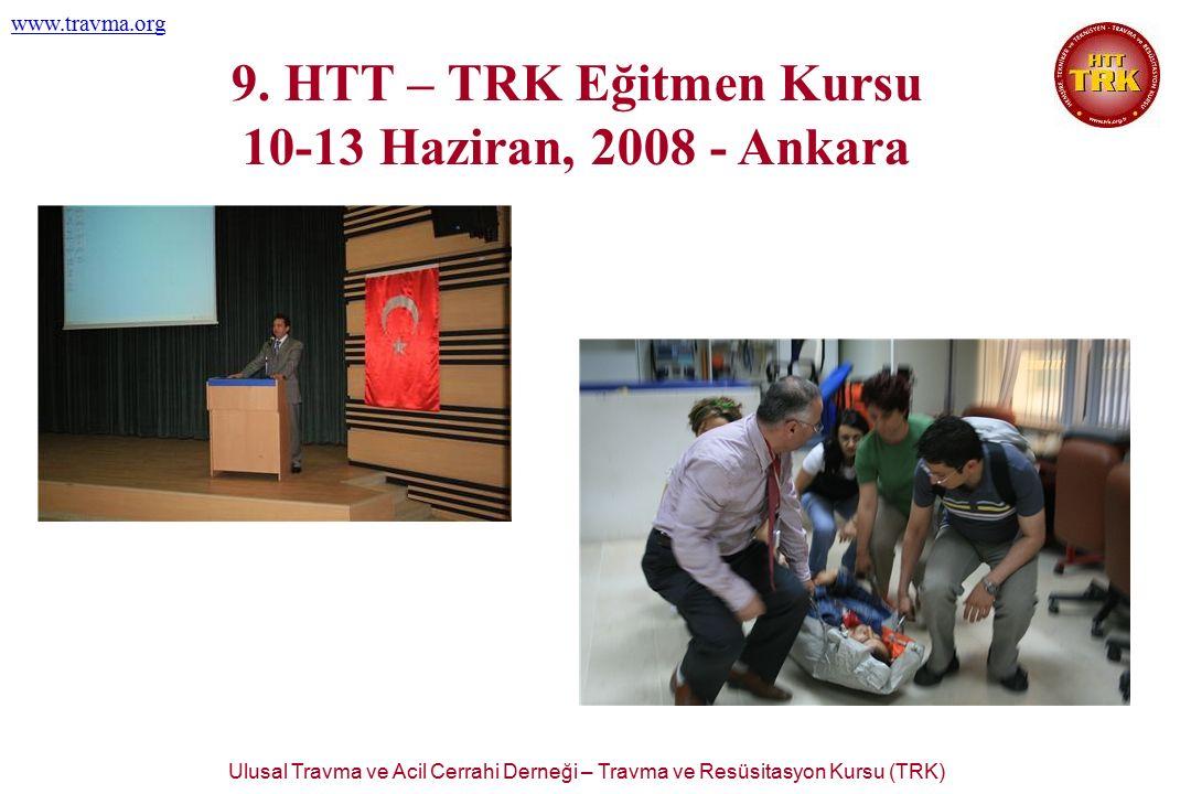 Ulusal Travma ve Acil Cerrahi Derneği – Travma ve Resüsitasyon Kursu (TRK) www.travma.org 9. HTT – TRK Eğitmen Kursu 10-13 Haziran, 2008 - Ankara