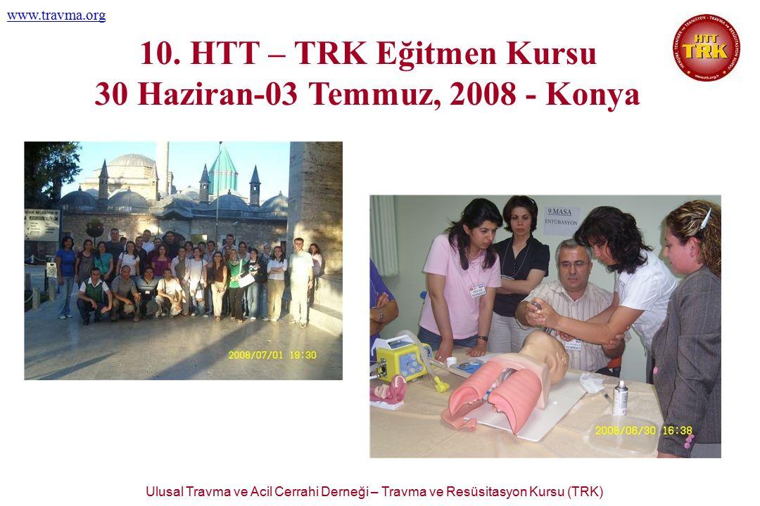 Ulusal Travma ve Acil Cerrahi Derneği – Travma ve Resüsitasyon Kursu (TRK) www.travma.org 10. HTT – TRK Eğitmen Kursu 30 Haziran-03 Temmuz, 2008 - Kon