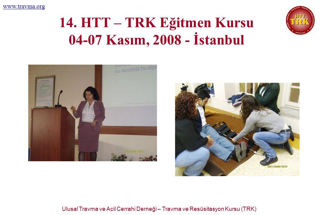 Ulusal Travma ve Acil Cerrahi Derneği – Travma ve Resüsitasyon Kursu (TRK) www.travma.org 14. HTT – TRK Eğitmen Kursu 04-07 Kasım, 2008 - İstanbul