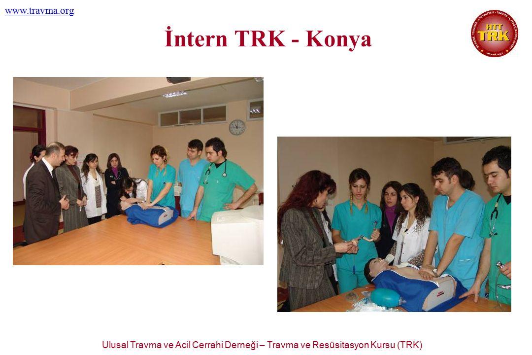 Ulusal Travma ve Acil Cerrahi Derneği – Travma ve Resüsitasyon Kursu (TRK) www.travma.org İntern TRK - Konya