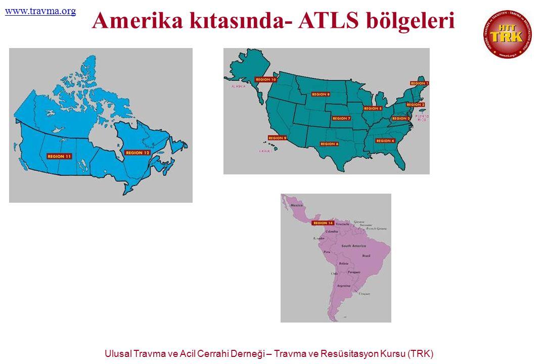 Ulusal Travma ve Acil Cerrahi Derneği – Travma ve Resüsitasyon Kursu (TRK) www.travma.org TRK organizasyonu hedefleri  30 yıldan beri ABD ve halen 49 başka ülkede başarı ile uygulanan ATLS'den yararlanmak  Avrupa Topluluğu'na adaylığımızın söz konusu olduğu şu günlerde, ECTC prensiplerine uyum sağlamak  Her iki kurstan yararlanarak, onları ülkemiz şartlarına uyarlamak  Standardizasyonu oluşturmak ve devamını sağlamak