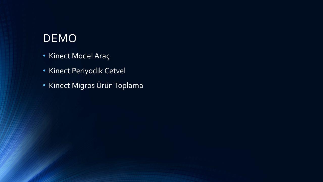 DEMO Kinect Model Araç Kinect Periyodik Cetvel Kinect Migros Ürün Toplama