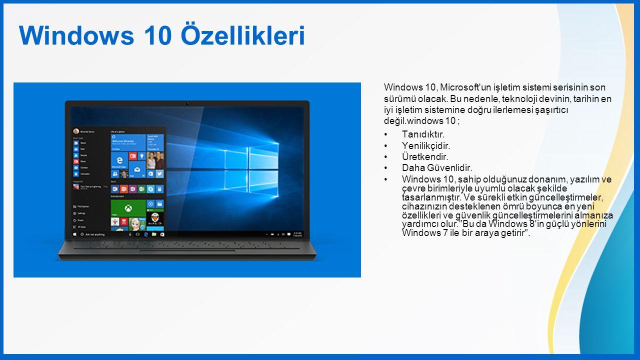 Windows 10, Microsoft'un işletim sistemi serisinin son sürümü olacak. Bu nedenle, teknoloji devinin, tarihin en iyi işletim sistemine doğru ilerlemesi