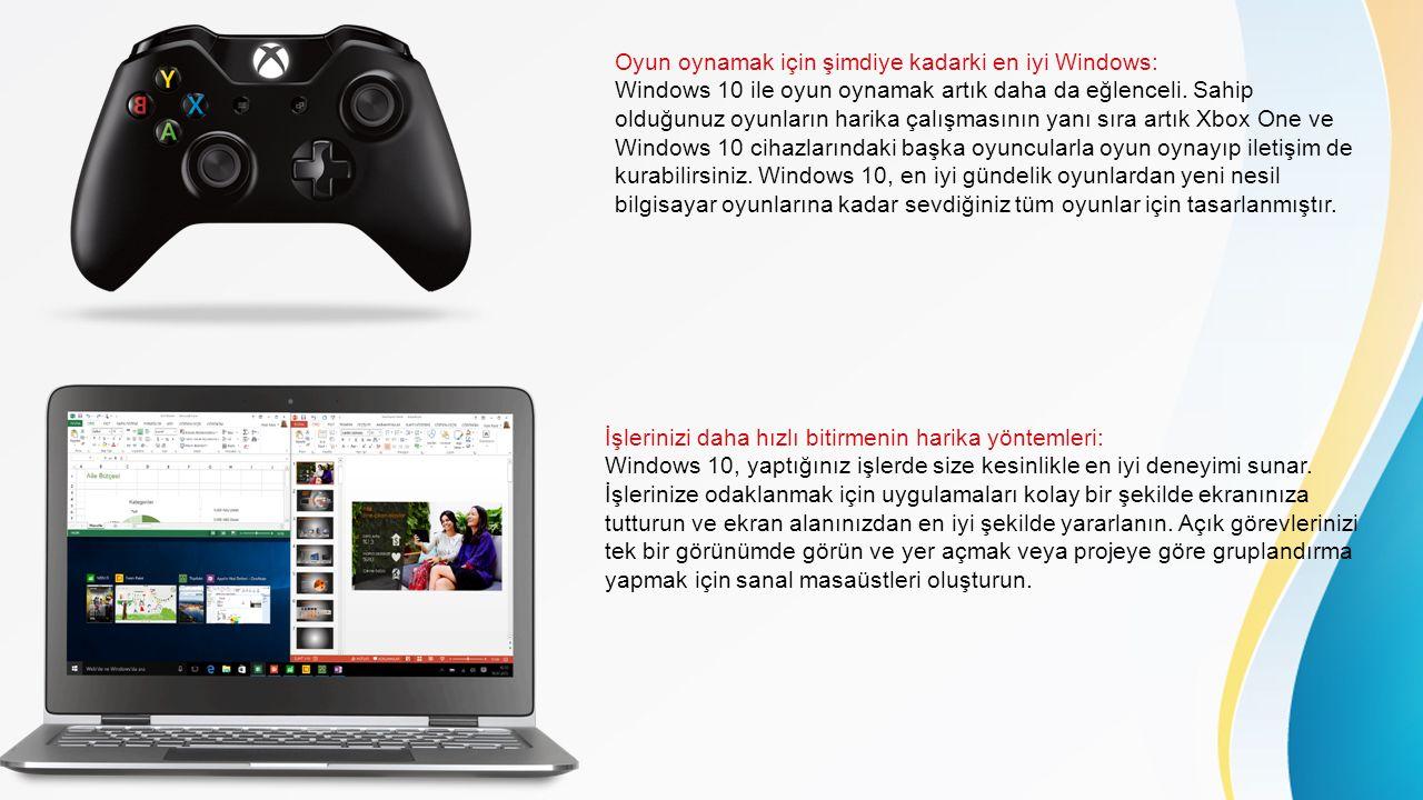 Oyun oynamak için şimdiye kadarki en iyi Windows: Windows 10 ile oyun oynamak artık daha da eğlenceli.