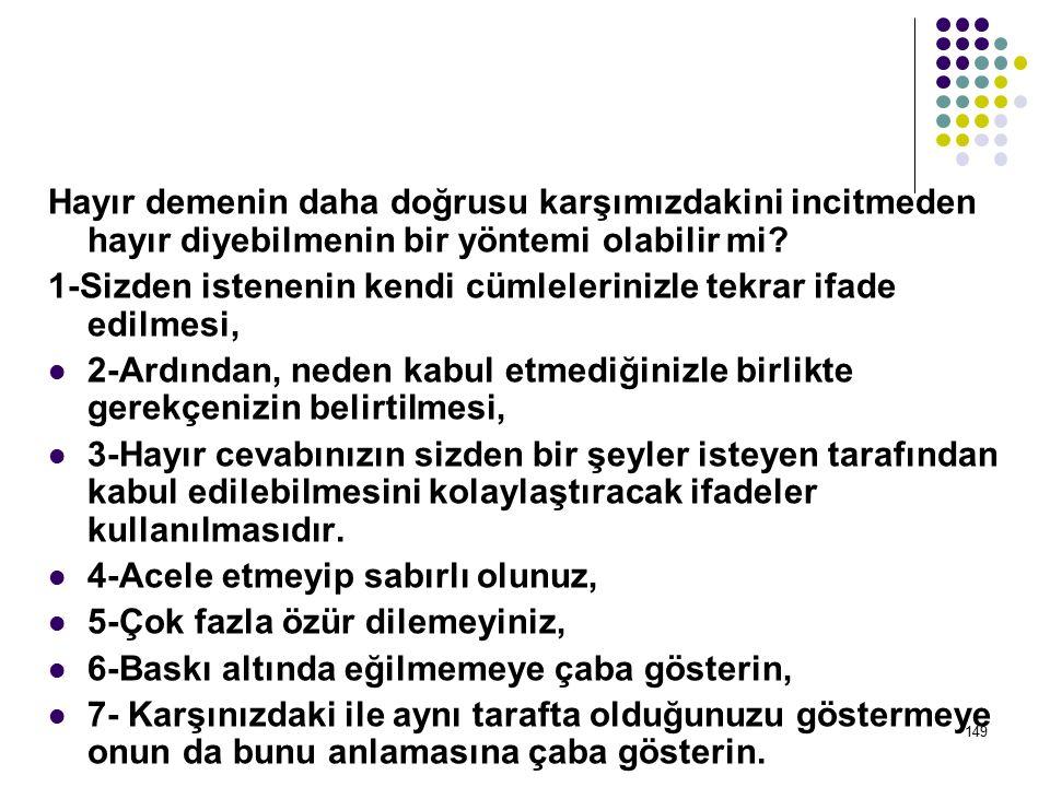 148 HER ŞEYİ KABUL EDEREK SEVİLİP BENİMSENECEĞİNİZİ DÜŞÜNÜYORSANIZ, YANILIYORSUNUZ!...