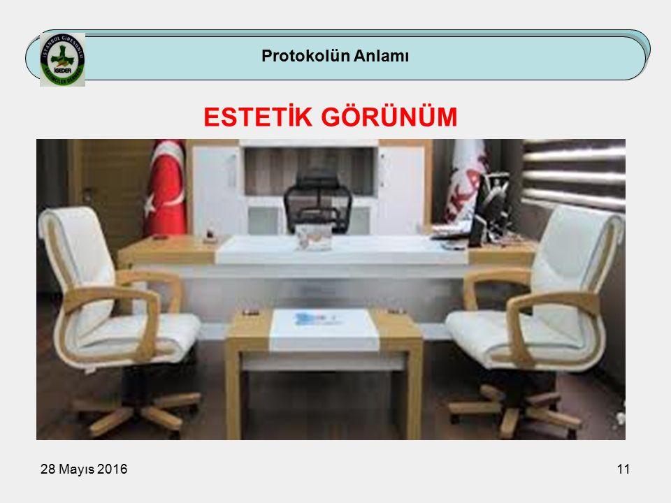 28 Mayıs 201611 Protokolün Anlamı ESTETİK GÖRÜNÜM