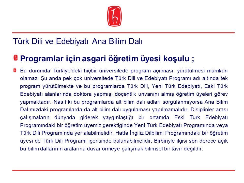 Programlar için asgari öğretim üyesi koşulu ; Bu durumda Türkiye'deki hiçbir üniversitede program açılması, yürütülmesi mümkün olamaz. Şu anda pek çok