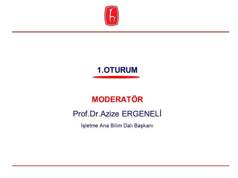 MODERATÖR Prof.Dr.Azize ERGENELİ İşletme Ana Bilim Dalı Başkanı 1.OTURUM