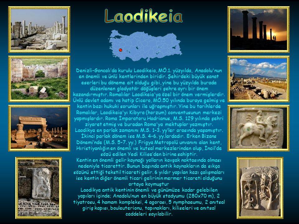 Kaş-Bozoluk'da kurulu kentte en eski yerleşim izleri M.Ö. 7. yüzyıla kadar gider. Kalıntılar ve ele geçen kitabeler buranın dinsel ve politik bir alan