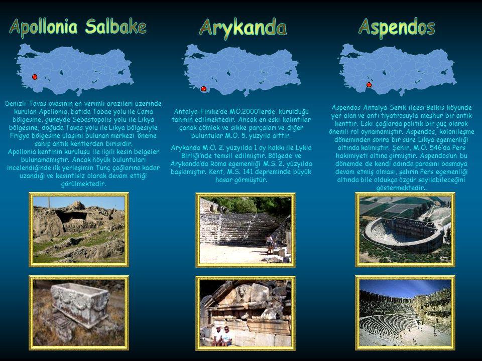 Isparta-Yalvaç'ta kurulmuş olan Antiokheia da Apollonia gibi bir Seleukos kolonisidir; fakat kesin kuruluş tarihi bilinmemektedir. Antiokheia, M.S. 3.