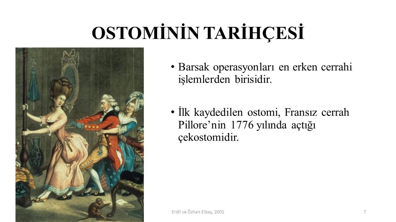 OSTOMİNİN TARİHÇESİ Barsak operasyonları en erken cerrahi işlemlerden birisidir. İlk kaydedilen ostomi, Fransız cerrah Pillore'nin 1776 yılında açtığı