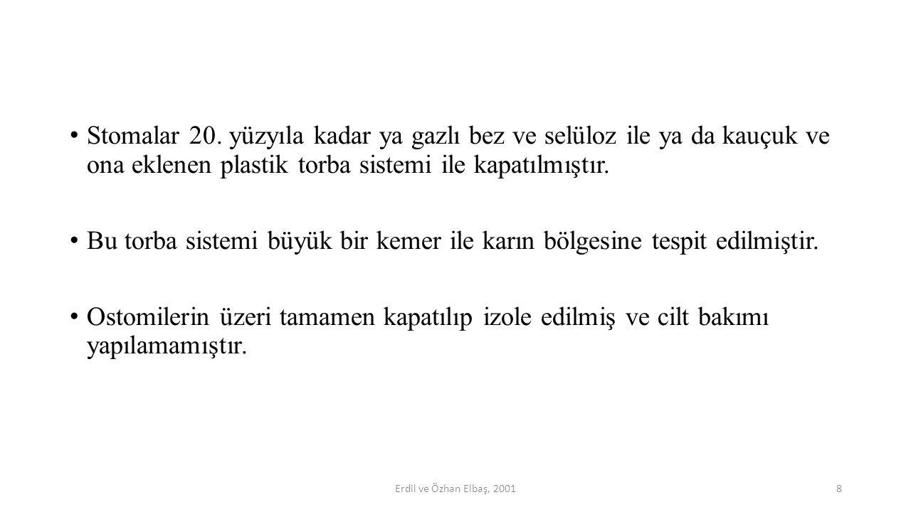 Torba yerleştirdikten sonra torbanın klembi takılır. 39Şelimen ve ark., 1998; Karadağ ve ark., 2003