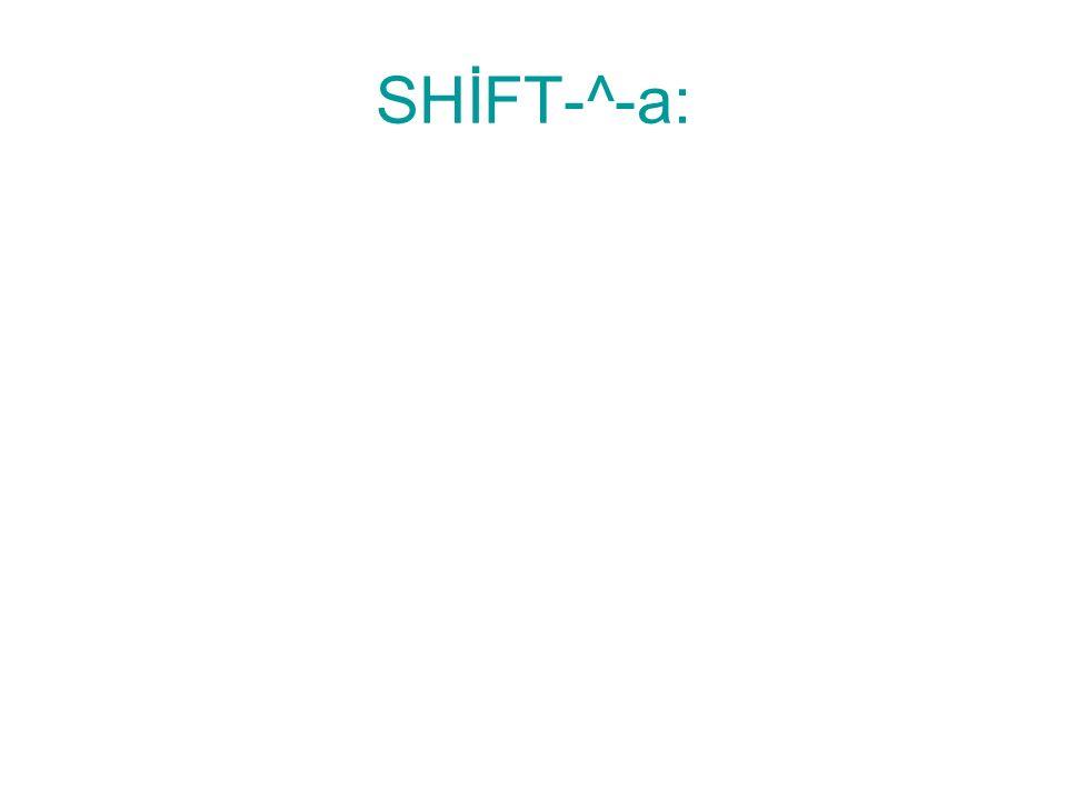 ALT-F4: Açık programların kapatılmasını sağlar.