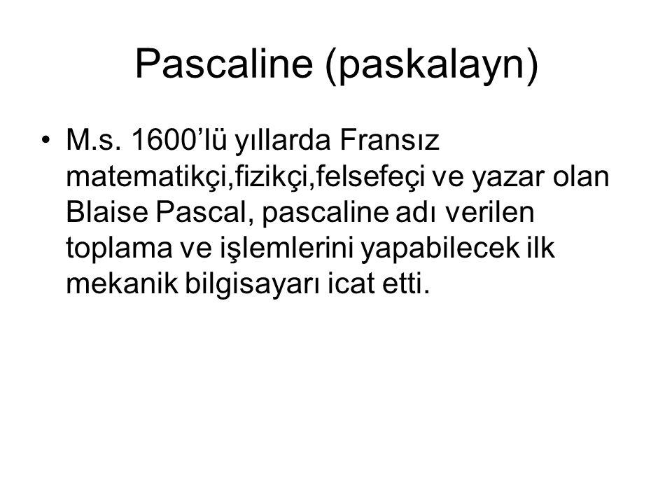 Pascaline (paskalayn) M.s.