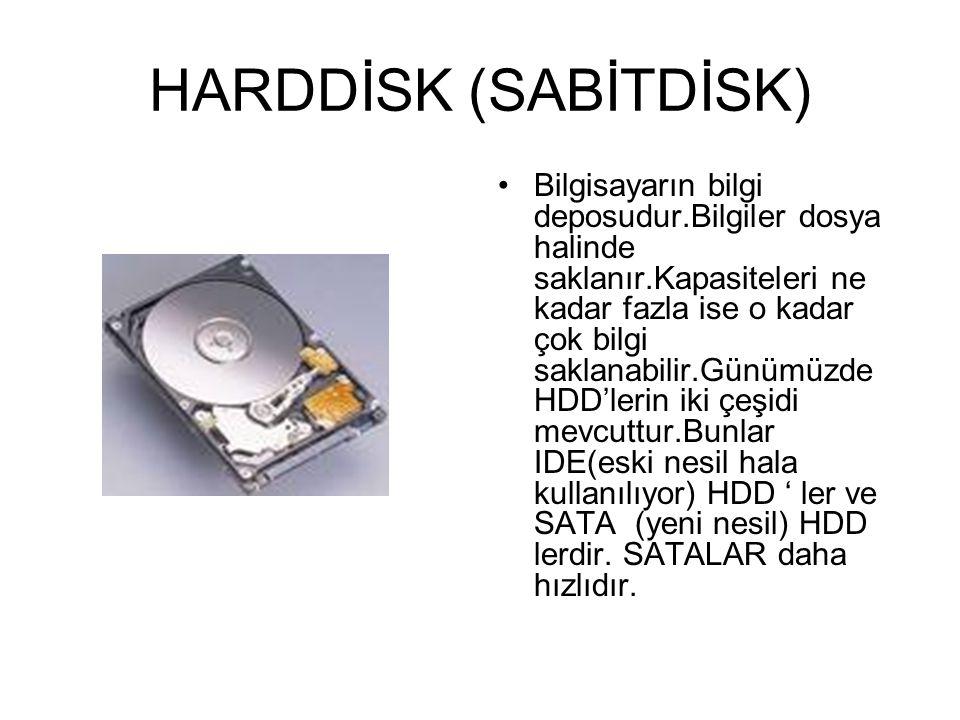 D- SAKLAMA ÜNİTESİ