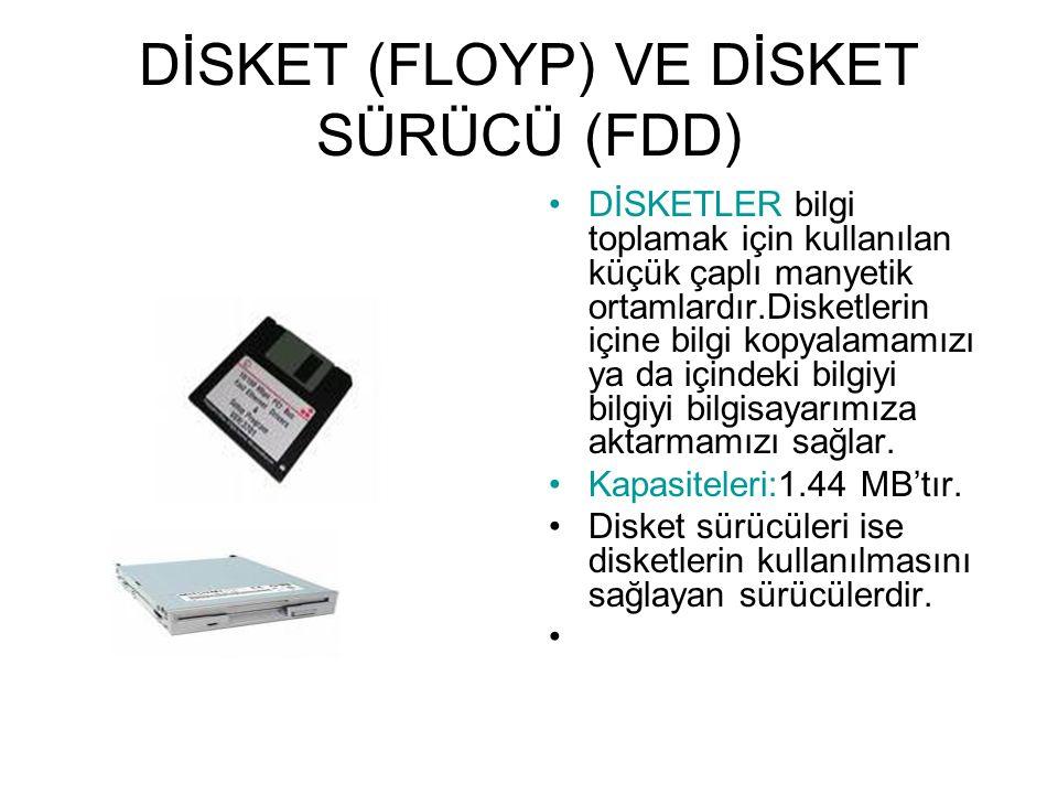 KAPASİTELERİ 40 GB, 80 GB, 120 GB, 200 GB,250 GB olabilir.Taşınabilir harddiskler mevcuttur.