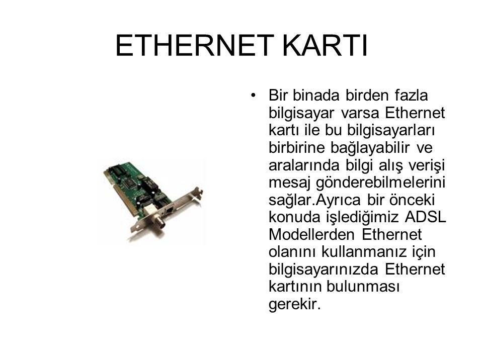 2.ADSL MODEM ADSL MODEM;Günümüzde hızlı ADSL kullanıcısı artmaktadır.Çünkü 24 saat, 365 gün bağlanma, bağlanmama, kesilme gibi sorunlar olmadan, sabit